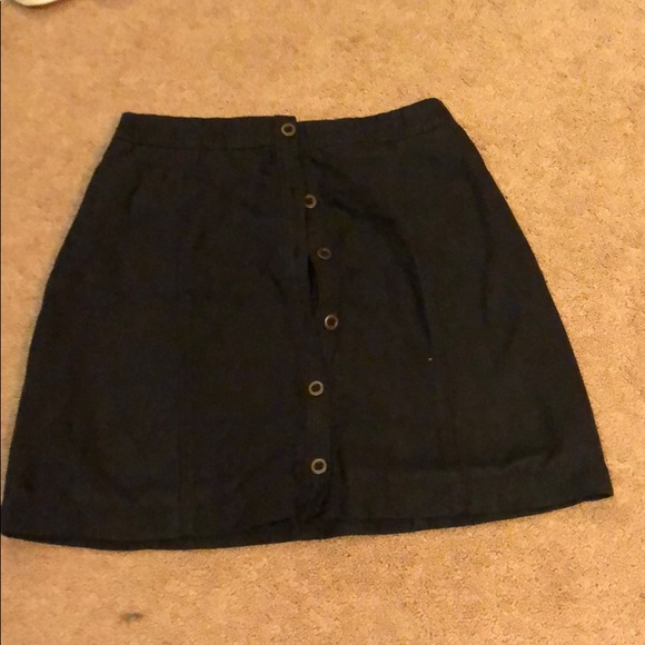 Hollister Dresses & Skirts - Black fabric mini skirt